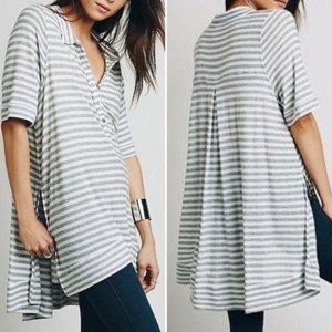 FREE PEOPLE Ryan Striped Oversized Tunic XS